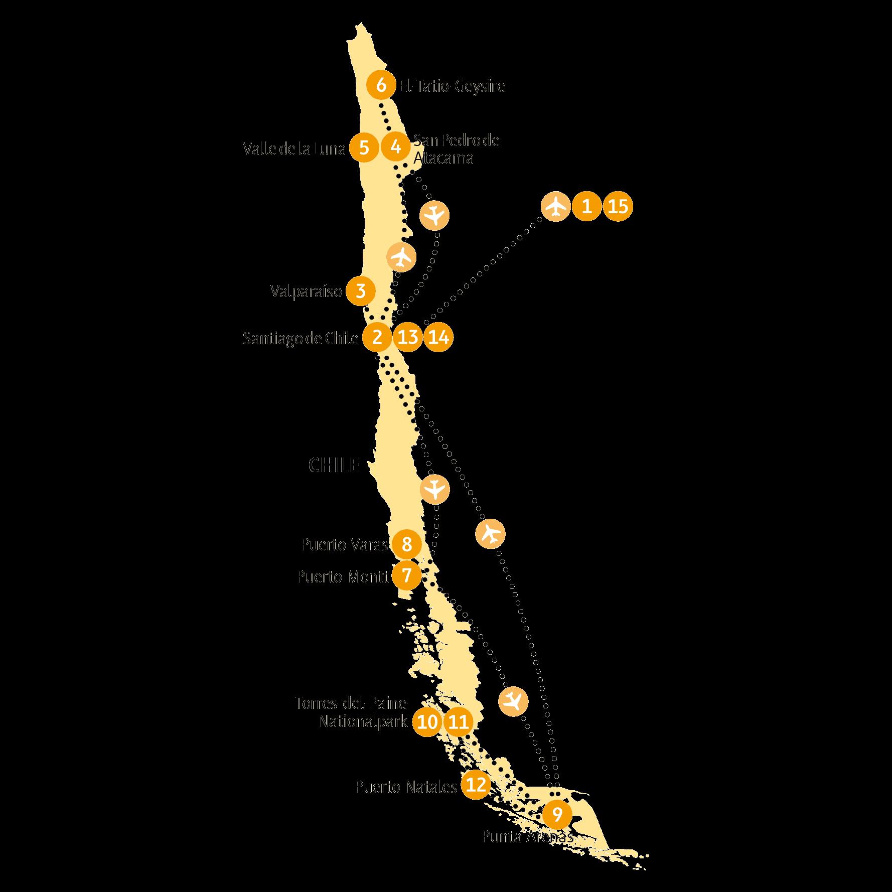 Atacama Wüste Karte.Atacama 15 Tage Wunderwelten Reise Chile Chamäleon