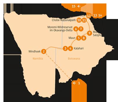 Private-Reisen mit 4 bis 6 Teilnehmer_Botswana und Namibia_Hippo