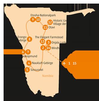 Private-Reisen mit 4 bis 6 Teilnehmer_Namibia_Impala
