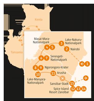 Private-Reisen mit 4 bis 6 Teilnehmer_Tansania und Kenia_Leopard