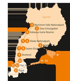 Private-Reisen mit 4 bis 6 Teilnehmer_Uganda und Ruanda_Gorilla