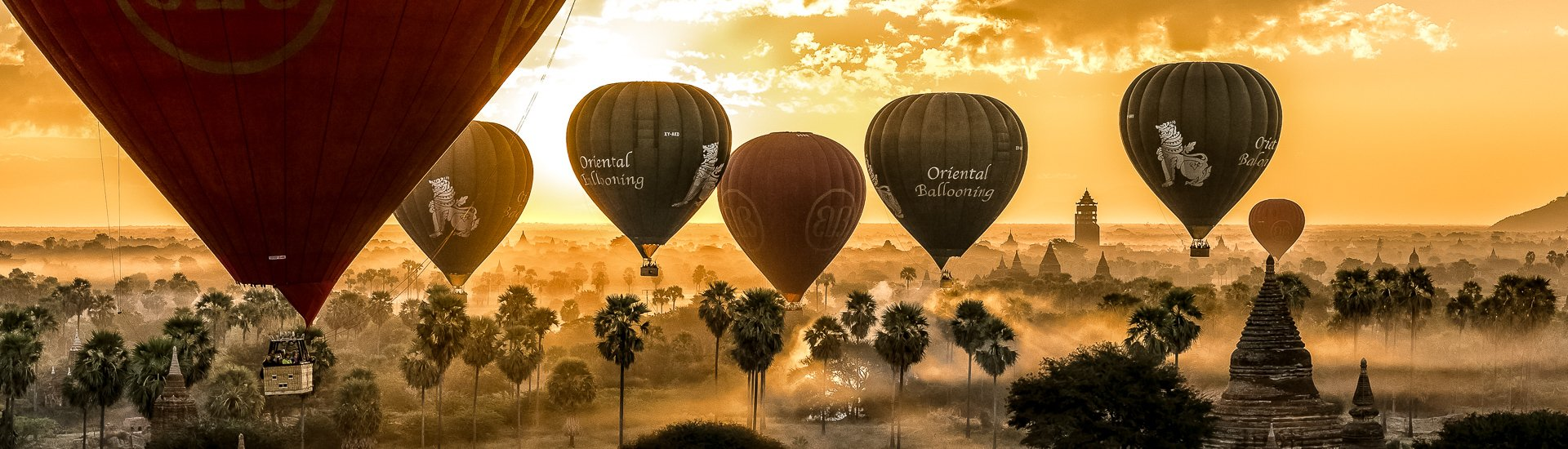 Ballooning in Bagan (© Alfons Wolf / Chamäleon)